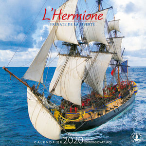 Calendrier chevalet 2020 L'Hermione