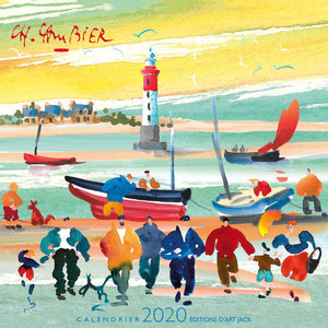 Calendrier chevalet 2020 Aquarelle mer - Cambier