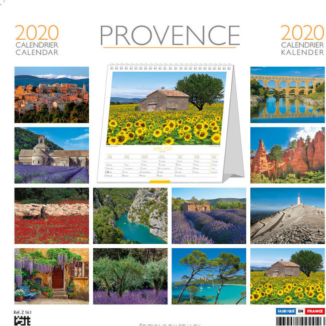 Calendrier Plantation 2020.Calendrier Chevalet 2020 Provence Banc