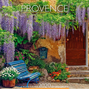 Calendrier chevalet 2020 Provence banc