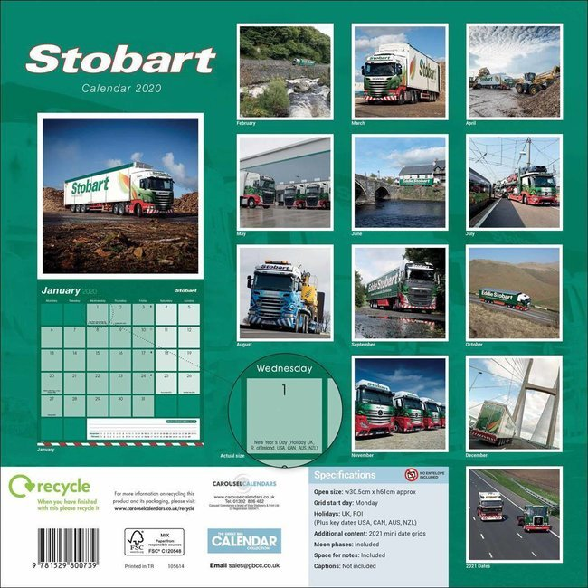Calendrier 2020 Can.Calendrier 2020 Camion Stobart
