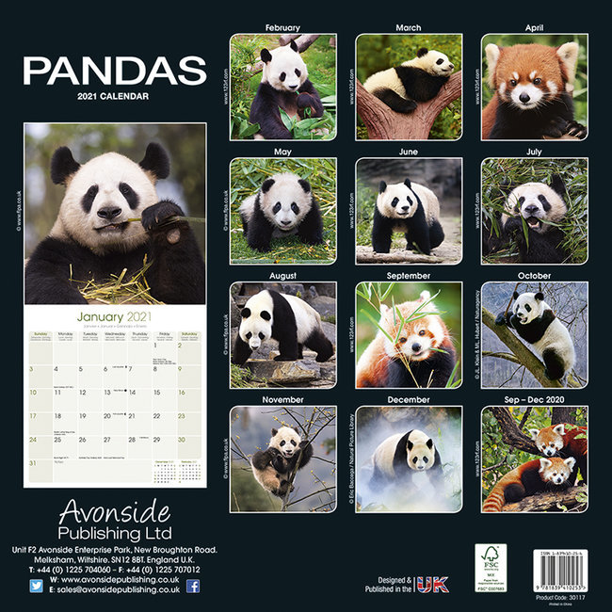 Calendrier 2021 Panda