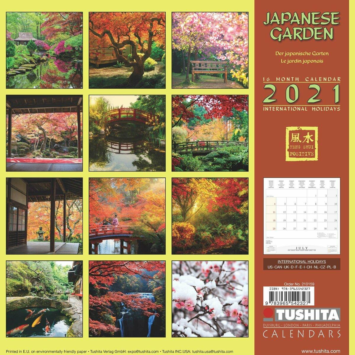 Calendrier 2021 jardins japonais