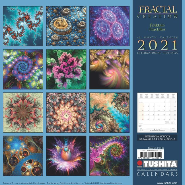 Calendrier 2021 Fractale creation