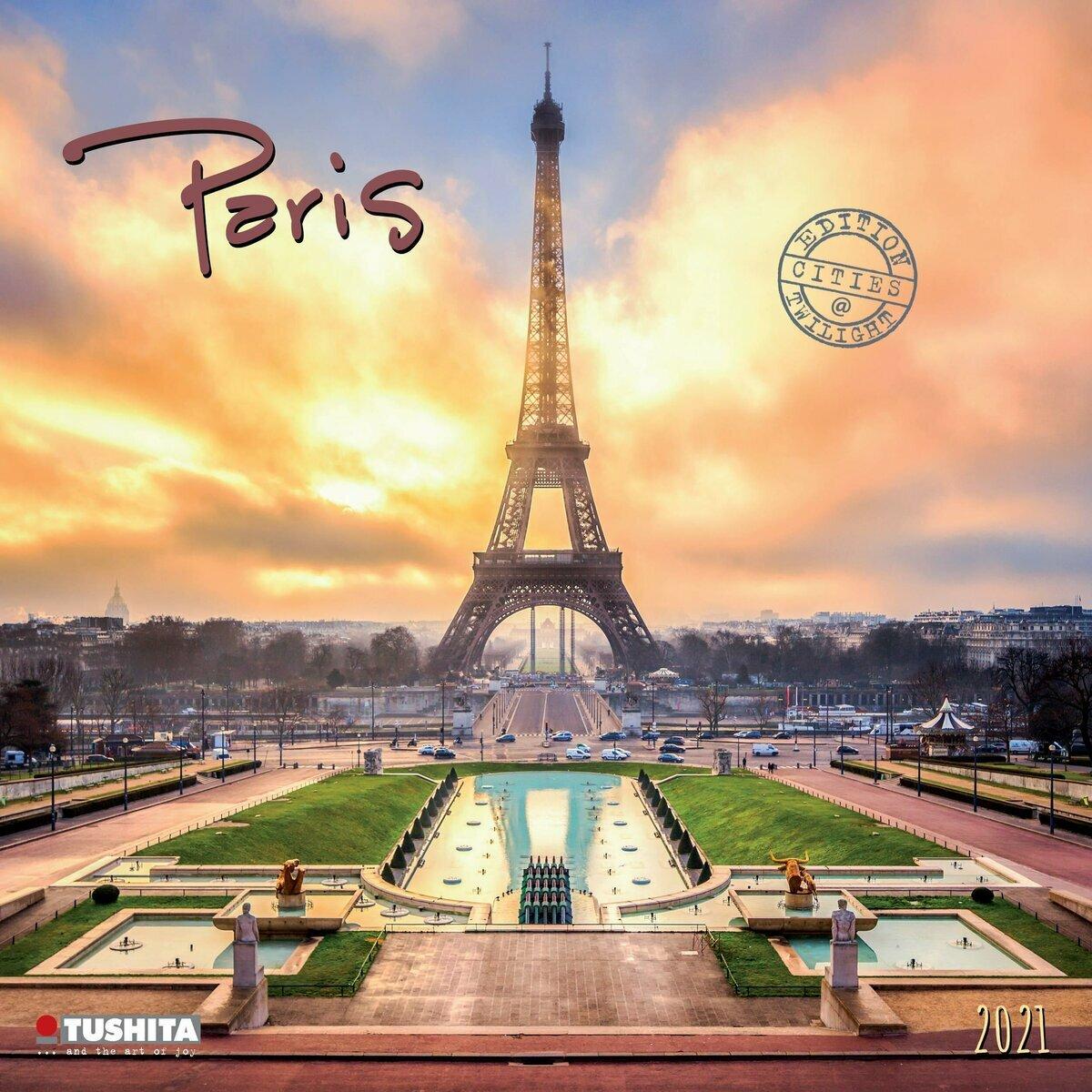 Calendrier 2021 Paris couché de soleil