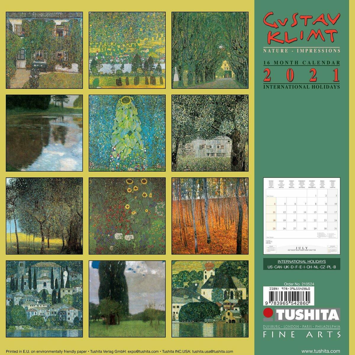 Calendrier 2021 Gustave Klimt nature