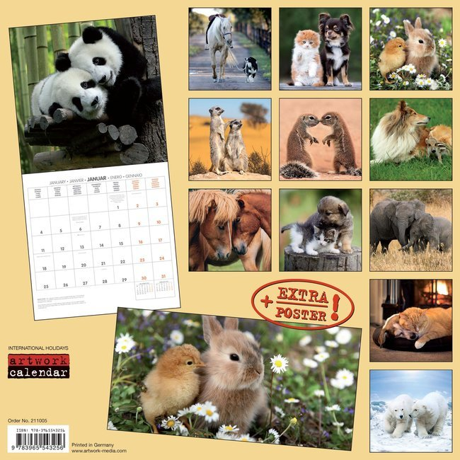 Calendrier 2021 Animaux Calendrier 2021 Animaux AVEC POSTER OFFERT