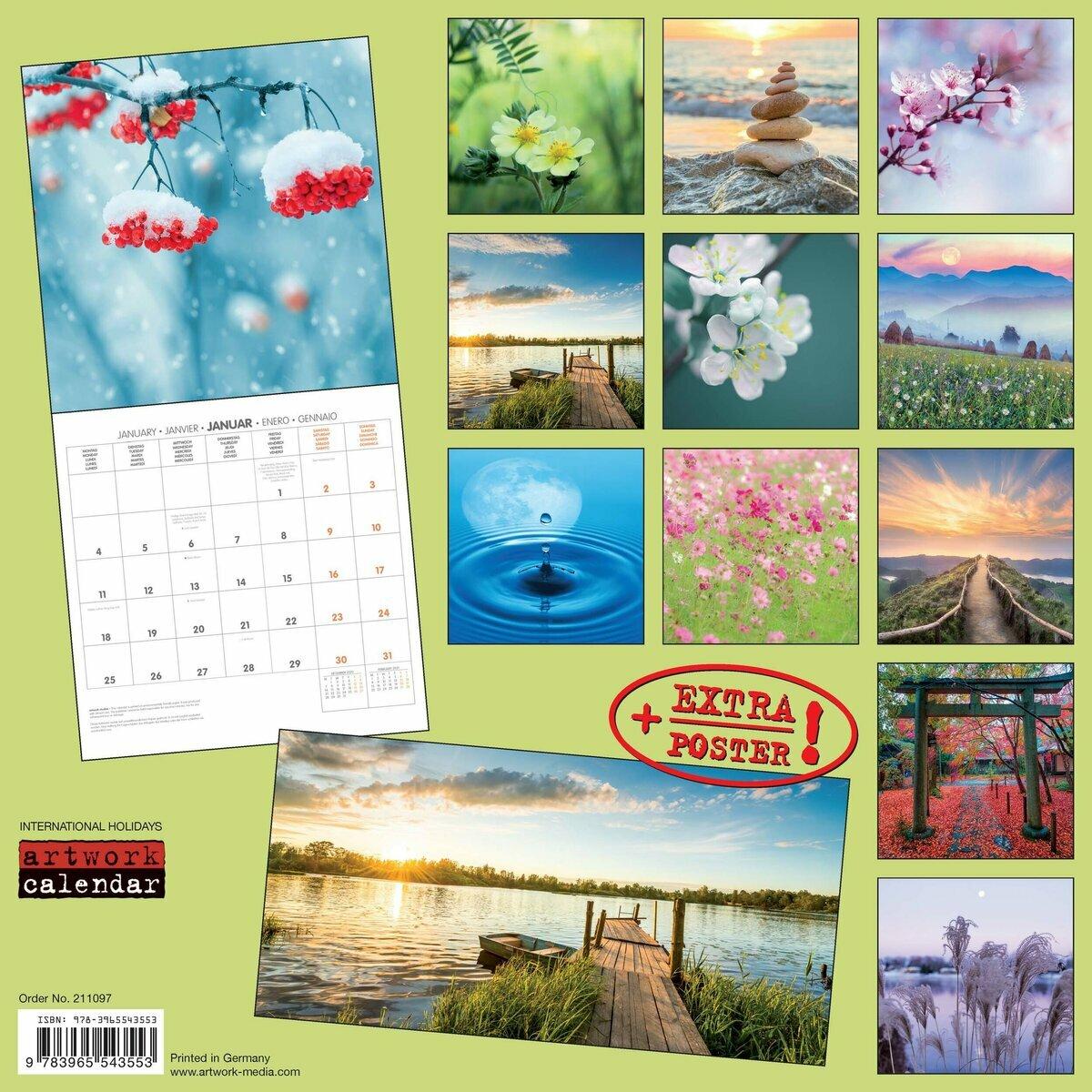 Calendrier 2021 Nature Calendrier 2021 Nature avec poster offert