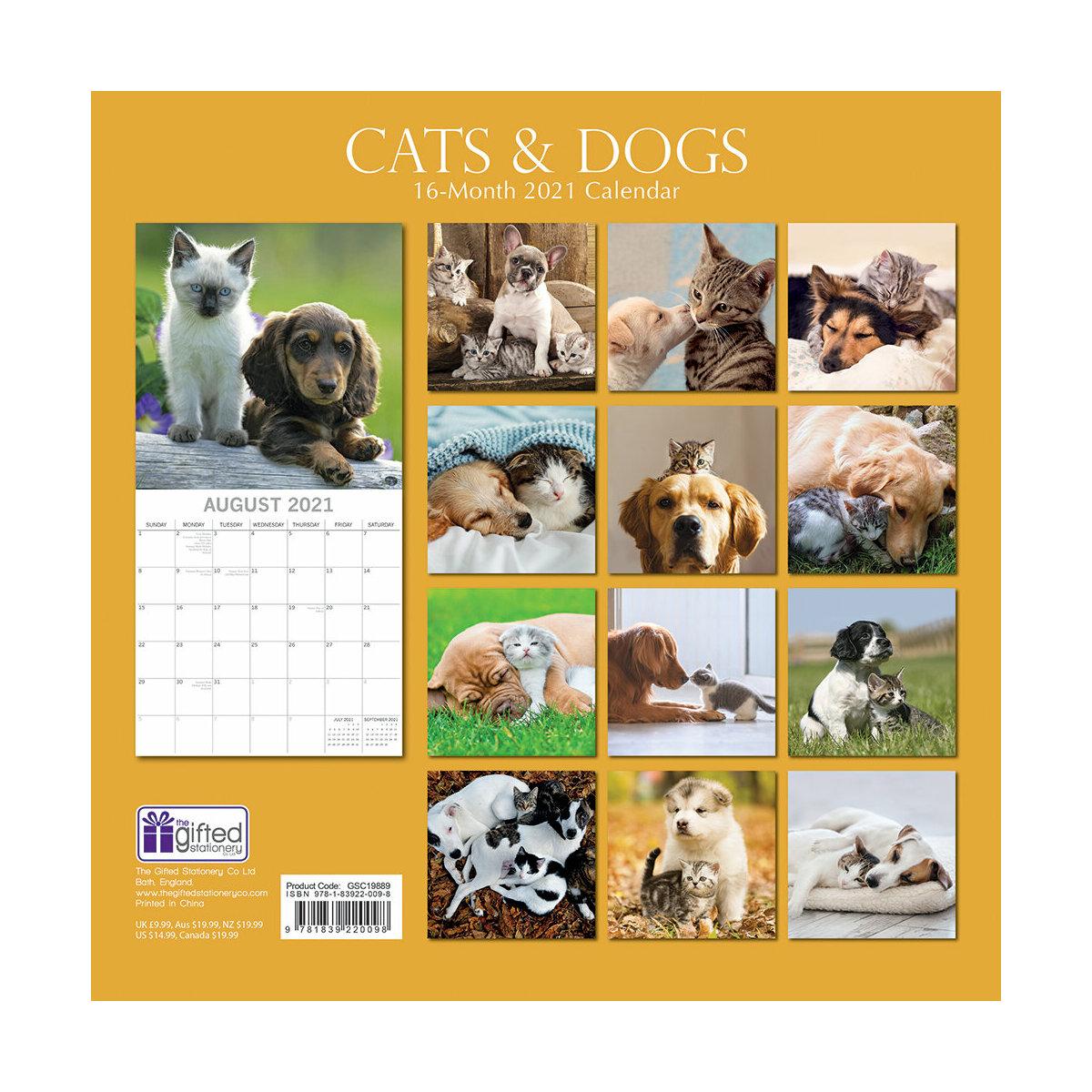 Calendrier 2021 Chat et chien
