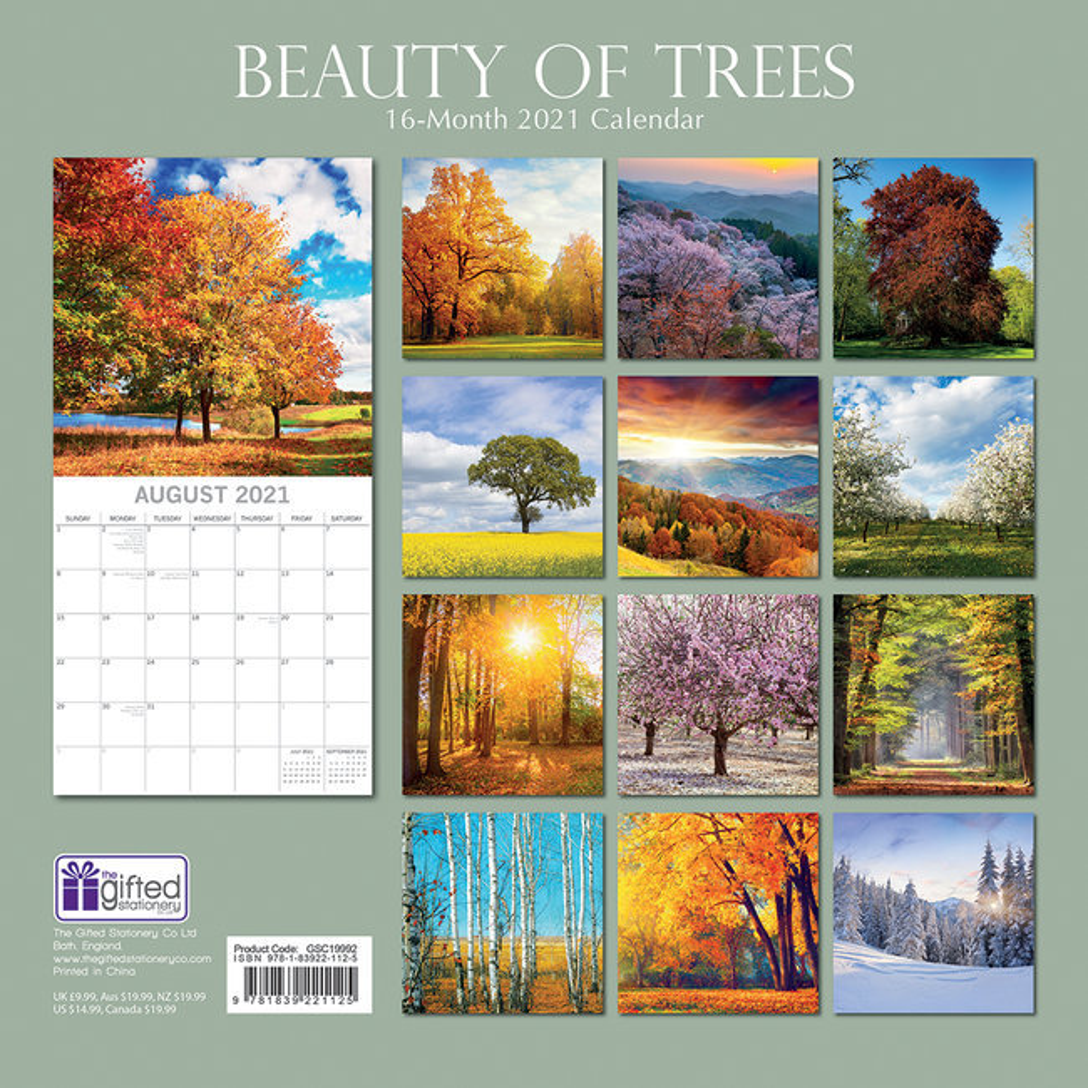 calendrier Beauté des arbres 2021