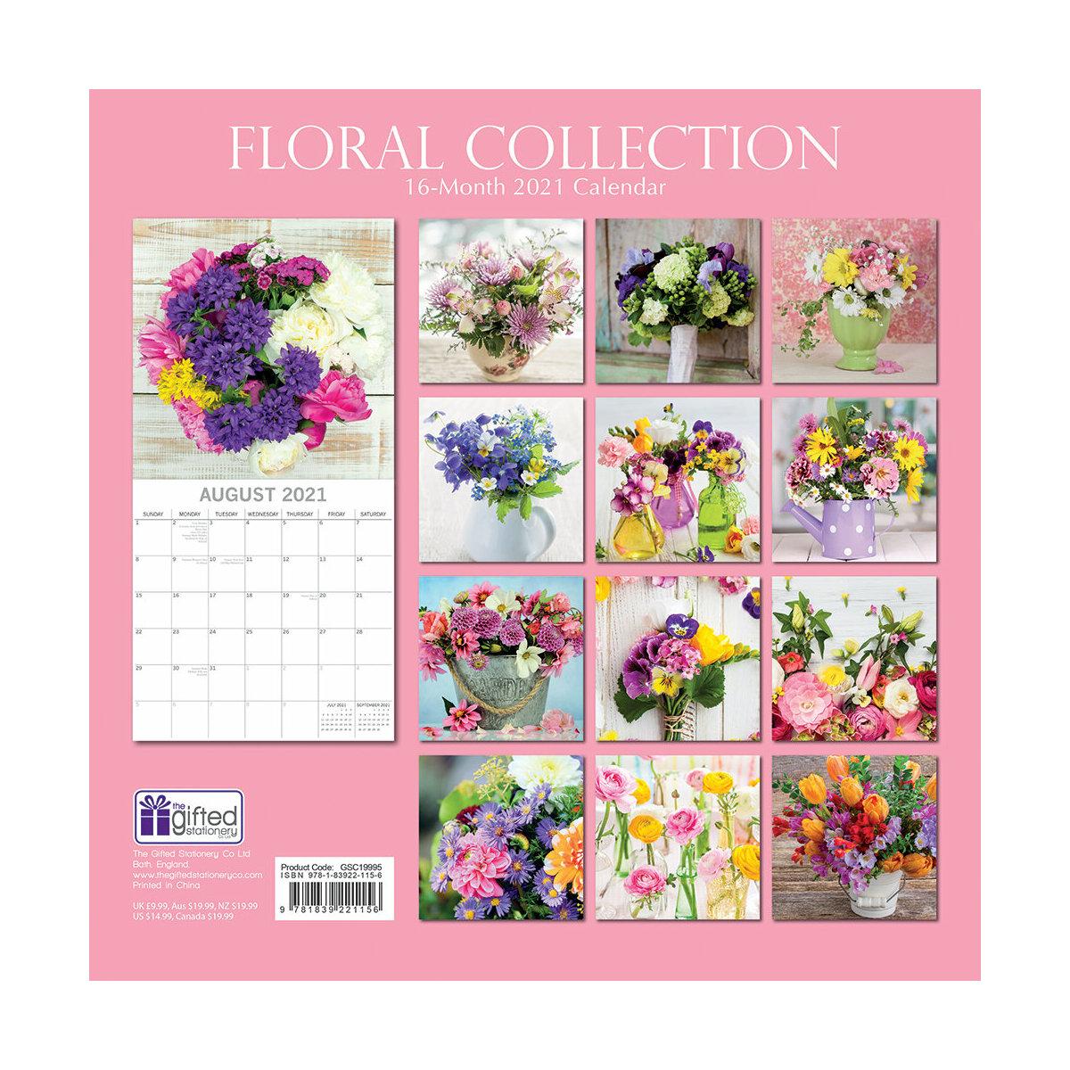 calendrier Fleur du jardin 2021