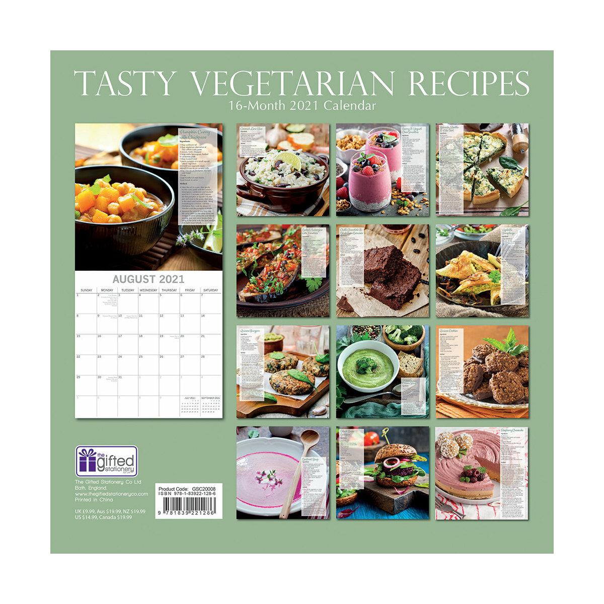 Calendrier 2021 Cuisine végétarienne