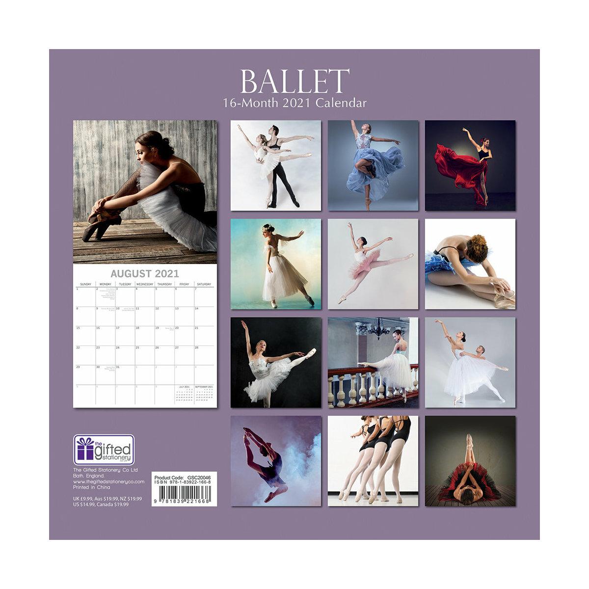 Calendrier 2021 Ballet de danse