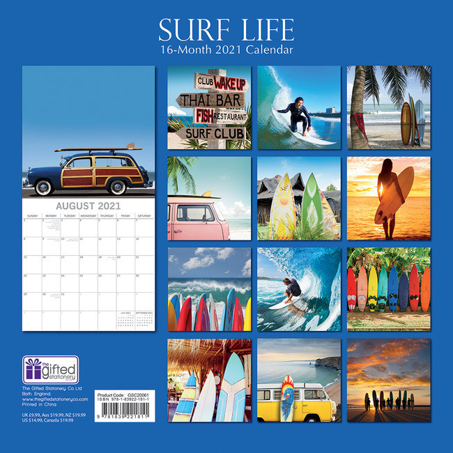 Calendrier 2021 Surf