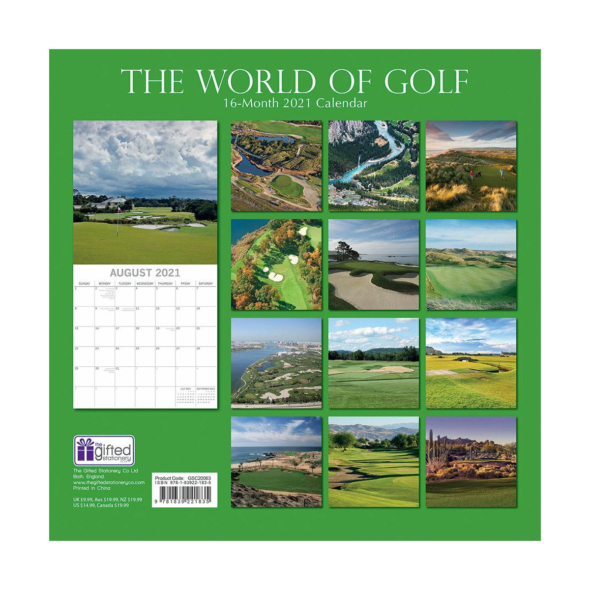 Calendrier Golf 2021 Calendrier 2021 Golf