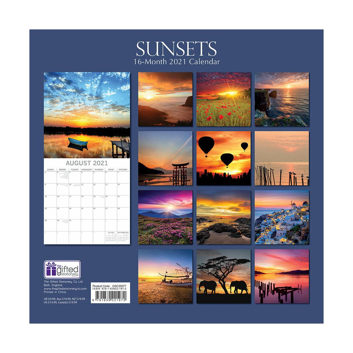 Calendrier 2021 Couche de soleil