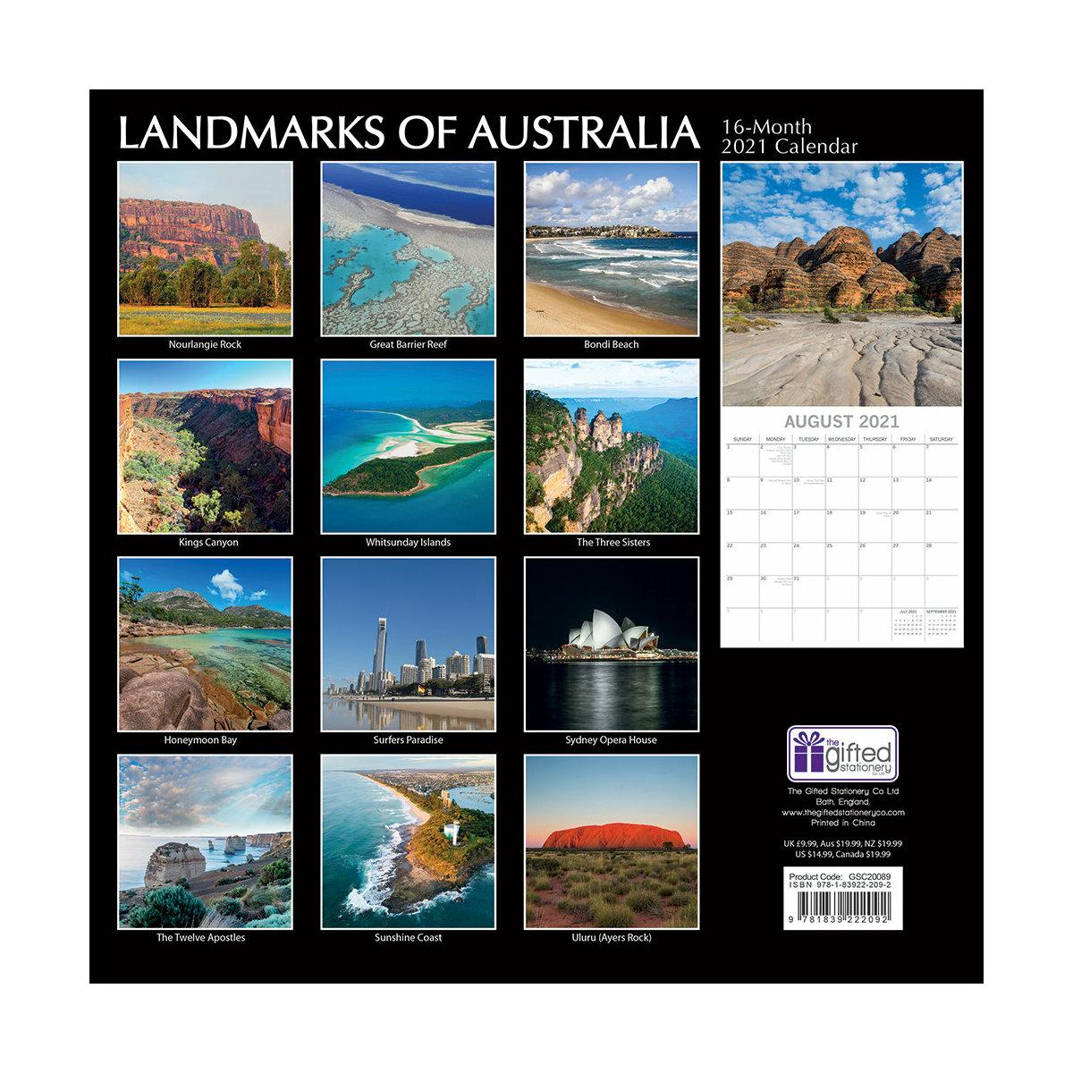 Calendrier 2021 Tourisme Australie