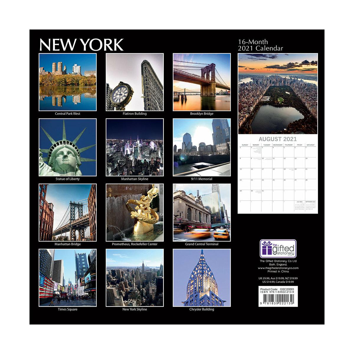 Calendrier 2021 New york