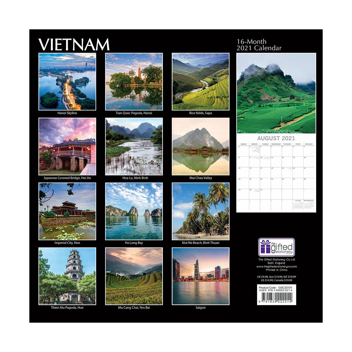 Calendrier 2021 Vietnam
