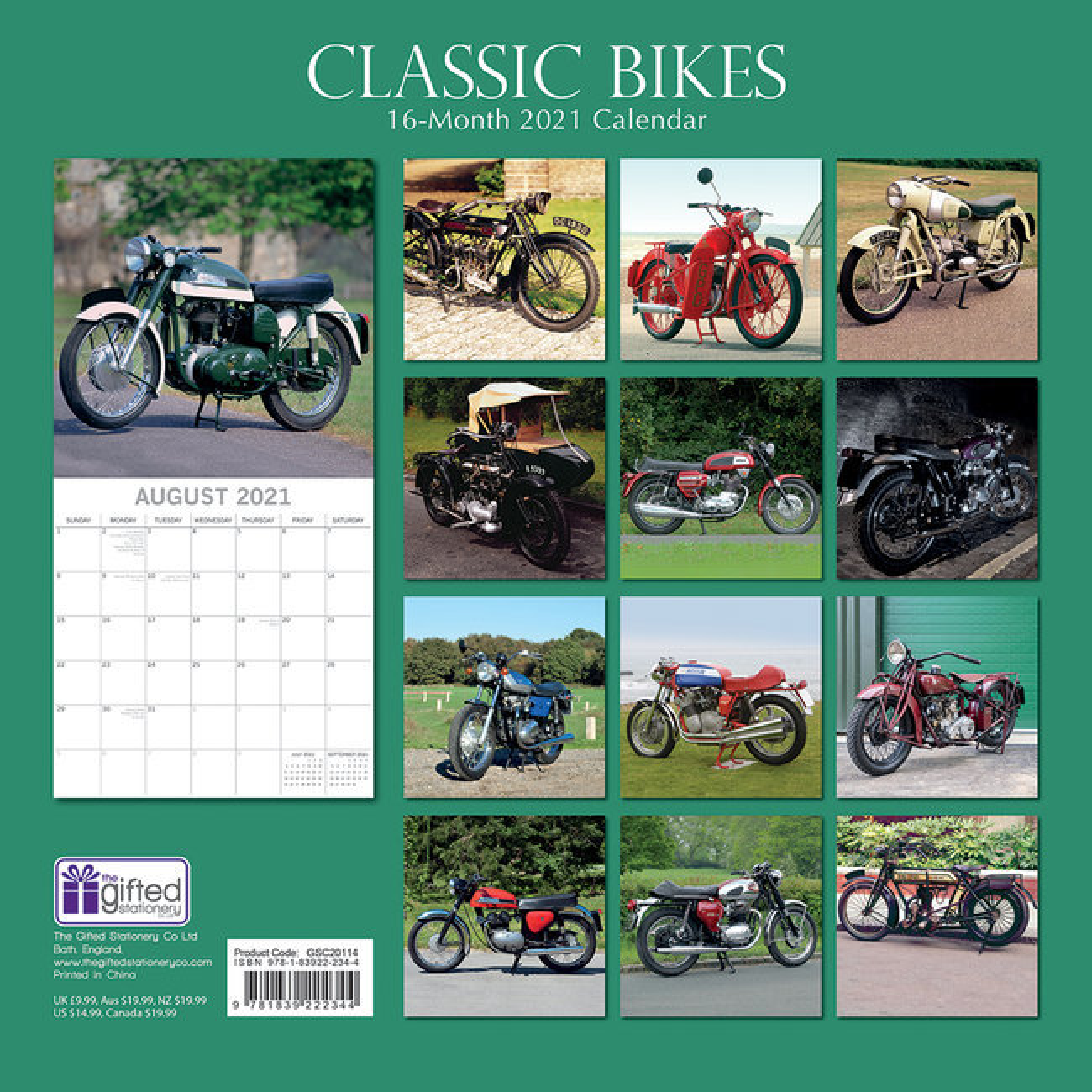 Calendrier 2021 Moto Calendrier 2021 Moto de collection