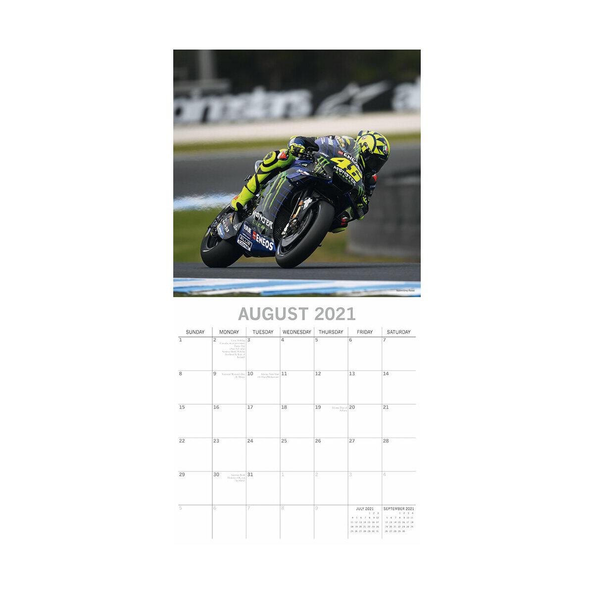 Calendrier 2021 Moto Calendrier 2021 Moto de course