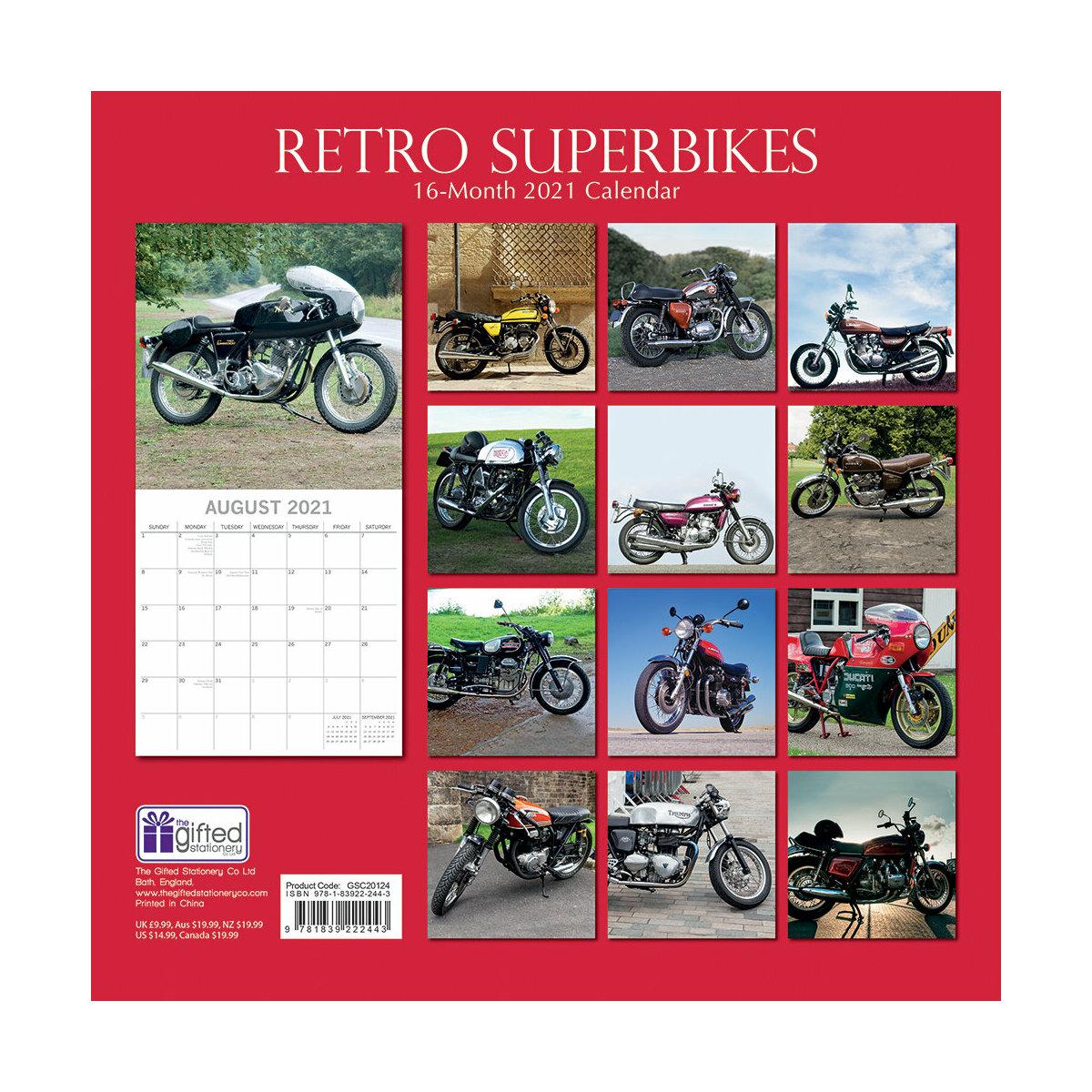 Calendrier 2021 Moto de course retro