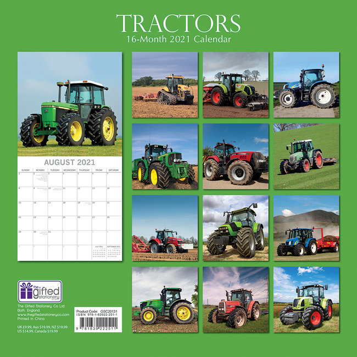 Calendrier 2021 Tracteur