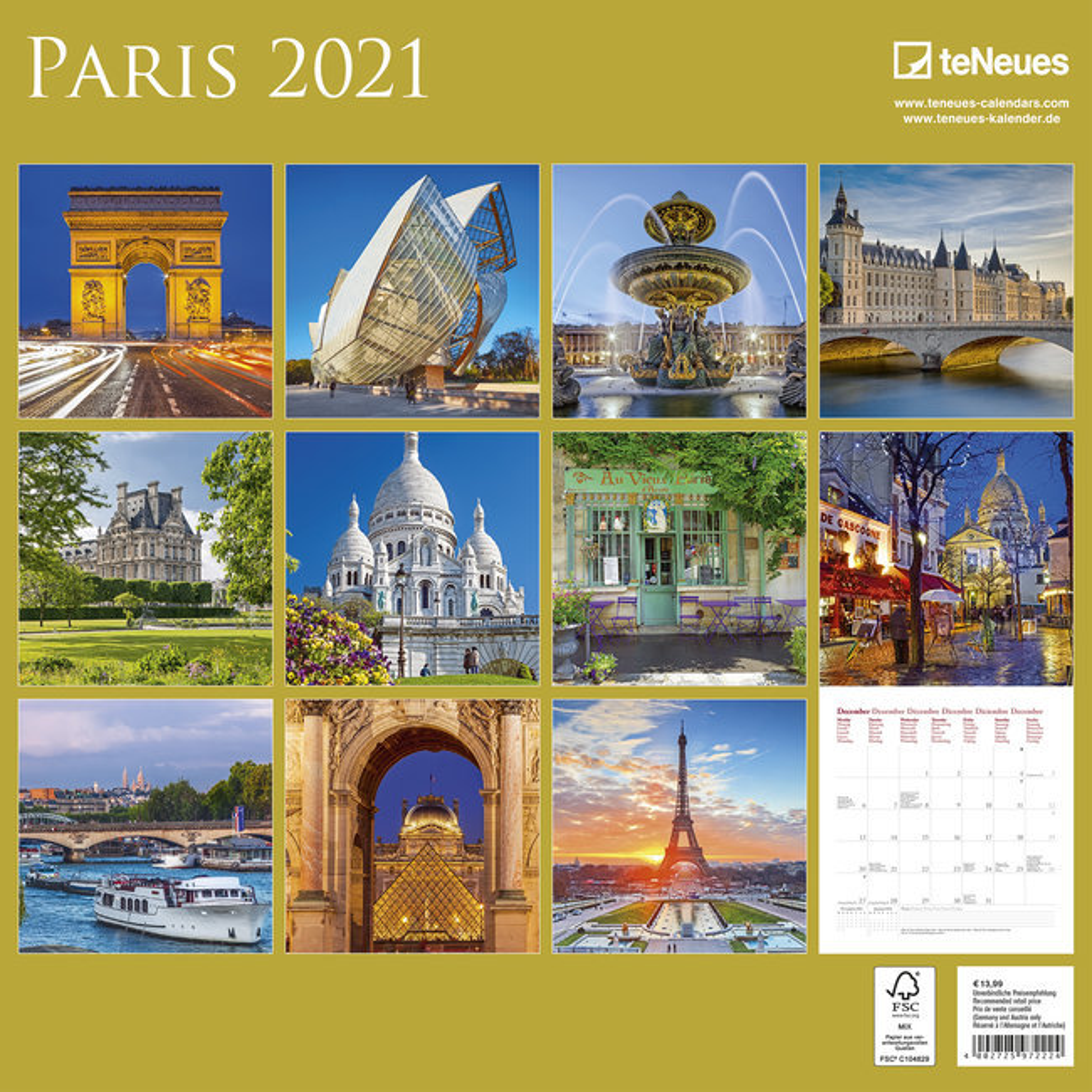 calendrier paris 2021