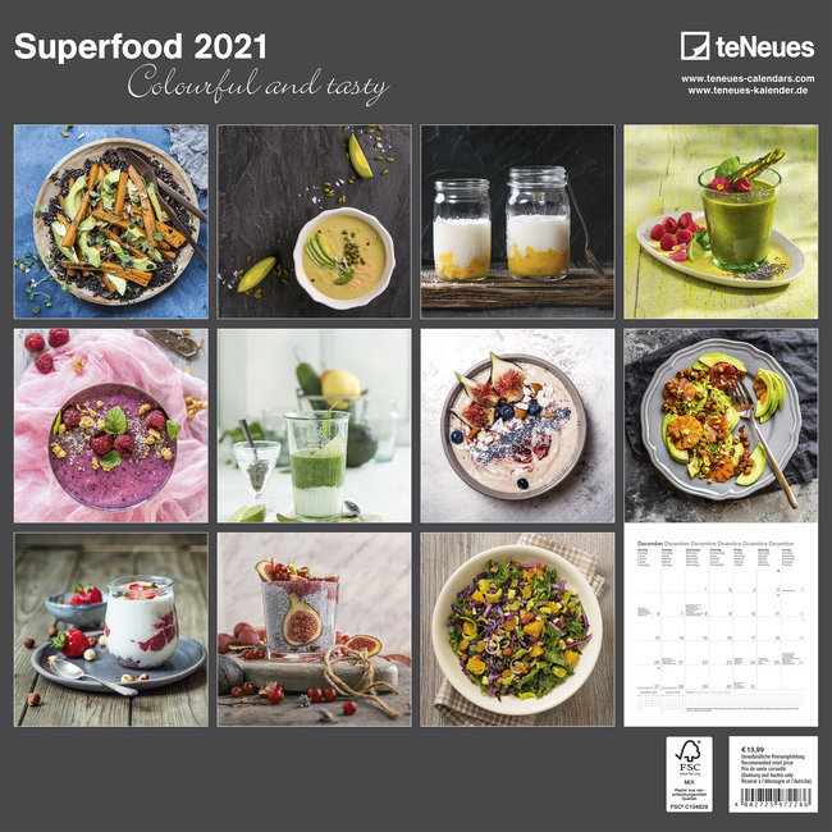 Calendrier 2021 Cuisine saine healthy