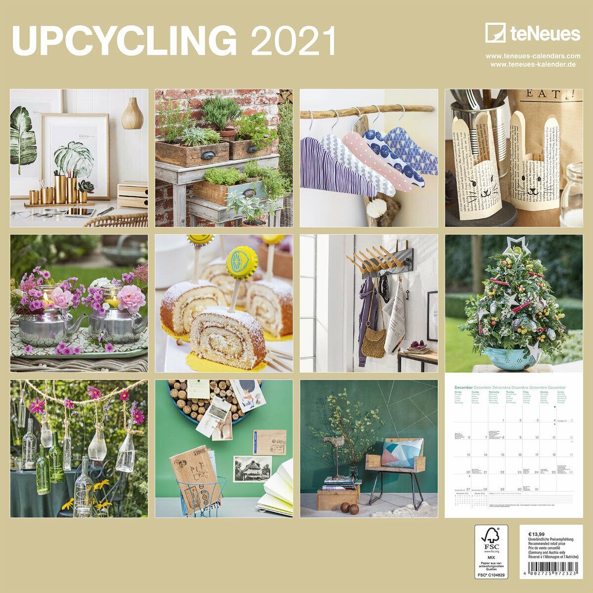 Calendrier 2021 Deco interieure recyclée