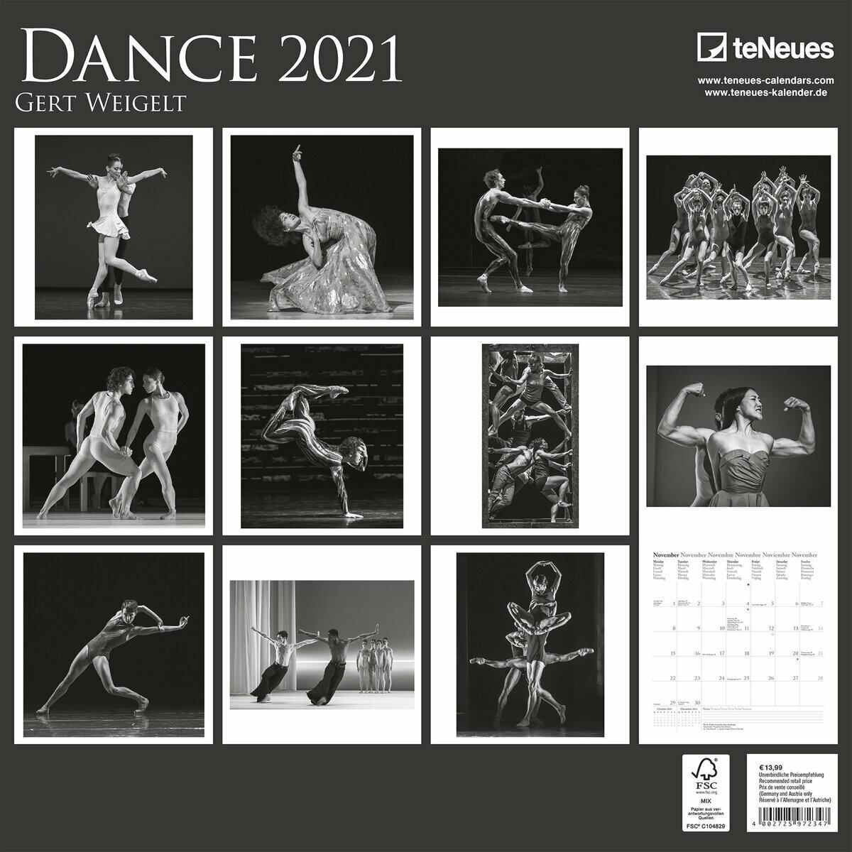 calendrier Danse 2021