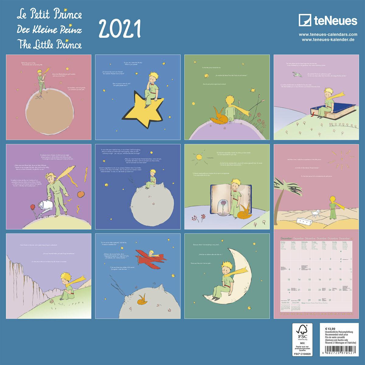 Petit Calendrier 2021 calendrier Le petit prince 2021