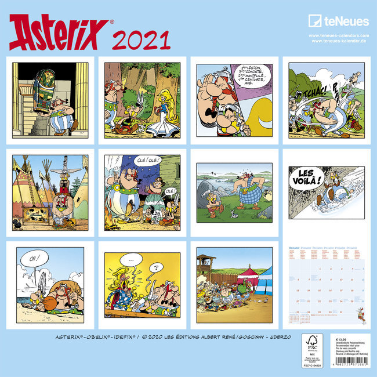 calendrier Astérix 2021