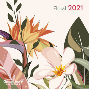 Mini calendrier 2021 Eco-responsable Green Floral