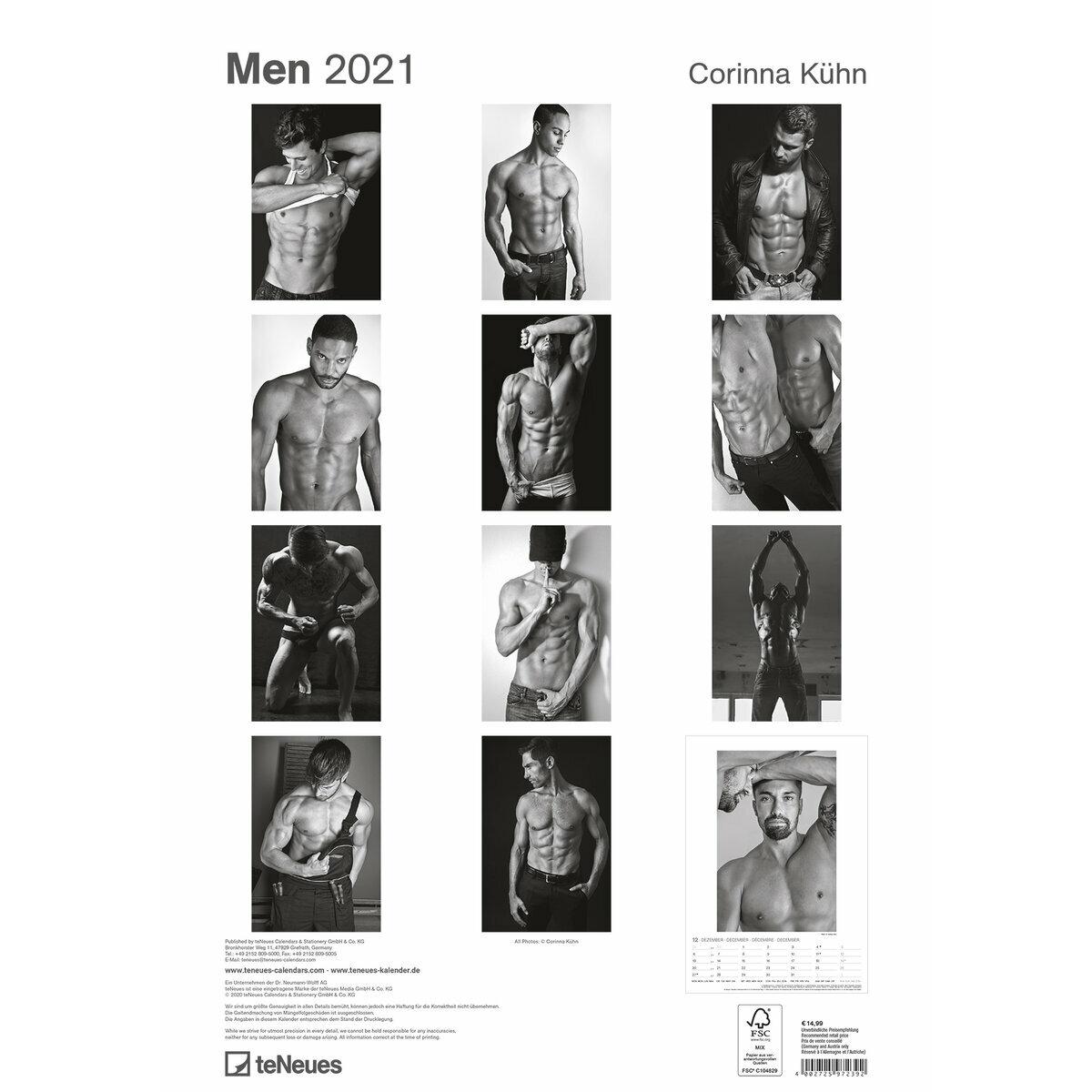 Maxi Calendrier 2021 Sexy Homme noir et blanc