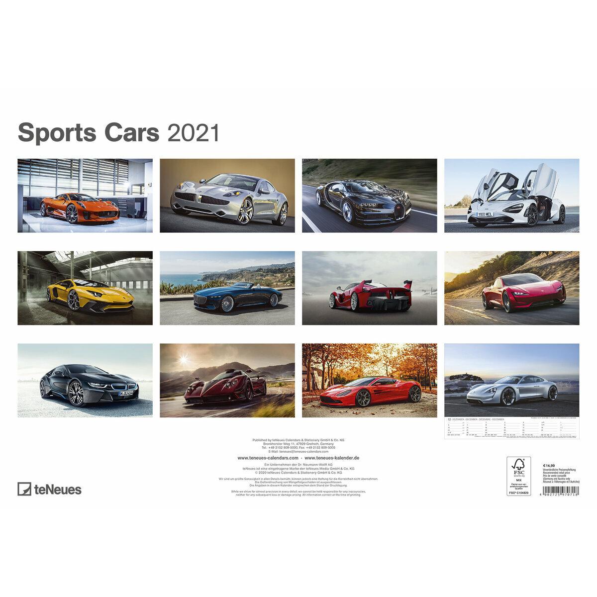 Calendrier Des Sportifs 2021 Maxi Calendrier 2021 Voiture sportive