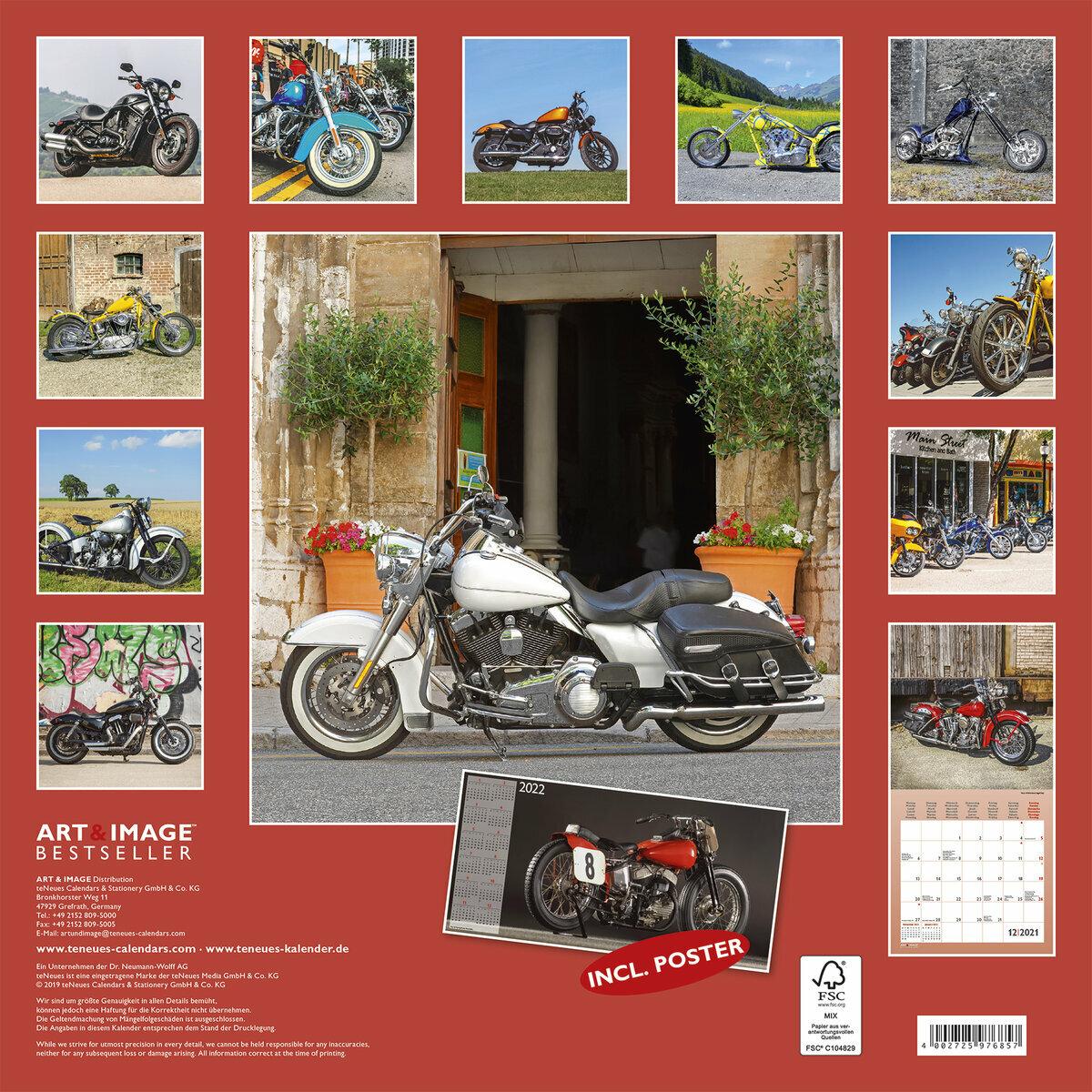 Calendrier 2021 Harley Davidson avec poster offert
