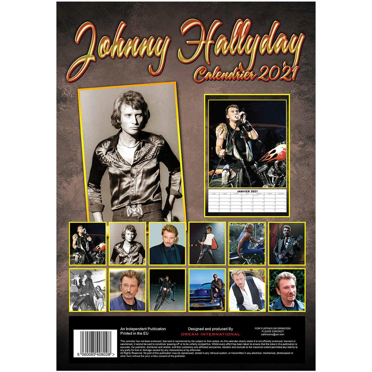 Calendrier Johnny Hallyday 2021 La Poste Calendrier 2021 Johnny Hallyday format A3