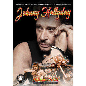 Calendrier 2021 Johnny Hallyday format A3
