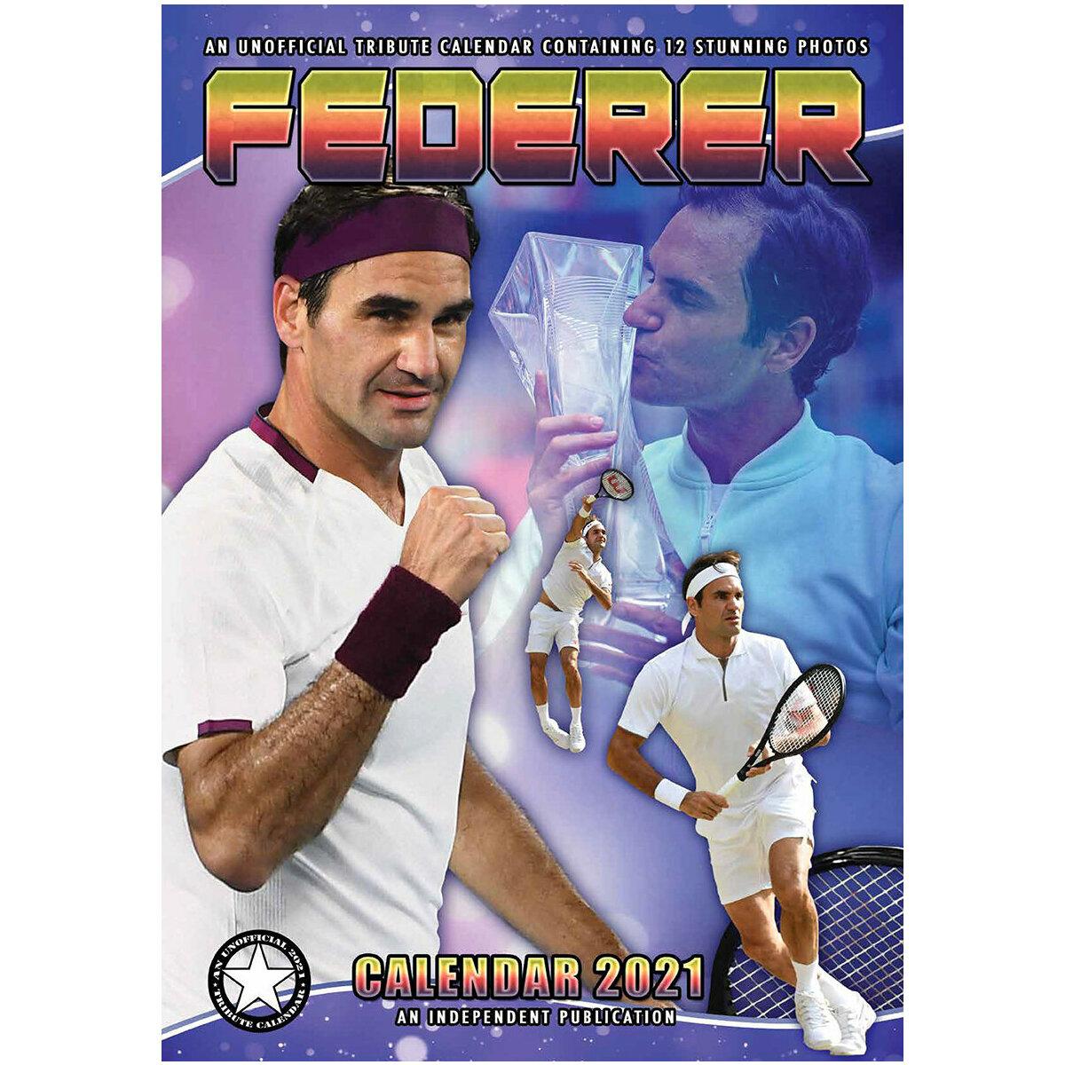 Calendrier 2021 Roger Federer format A3