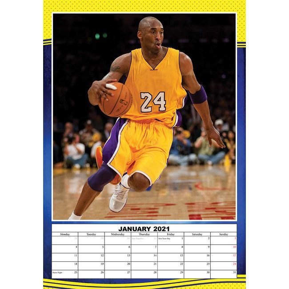 Calendrier 2021 Kobe Bryant A3