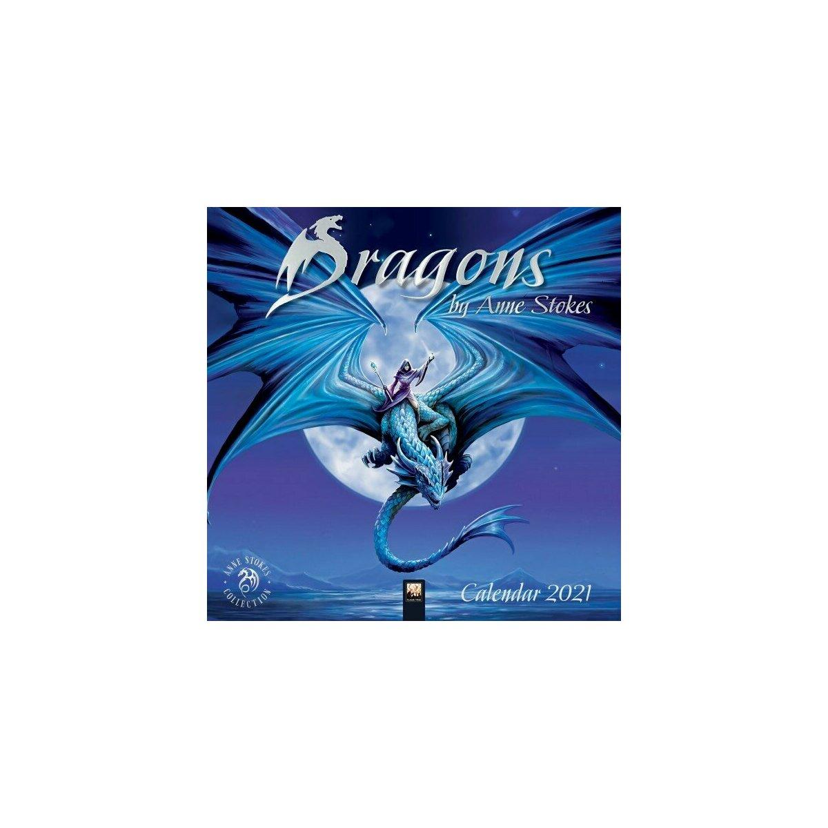 Calendrier 2021 Dragon   Anne Stokes