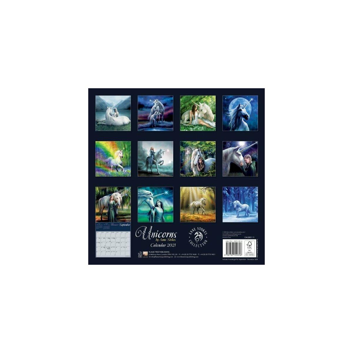 Calendrier 2021 Licorne calendrier Licorne 2021