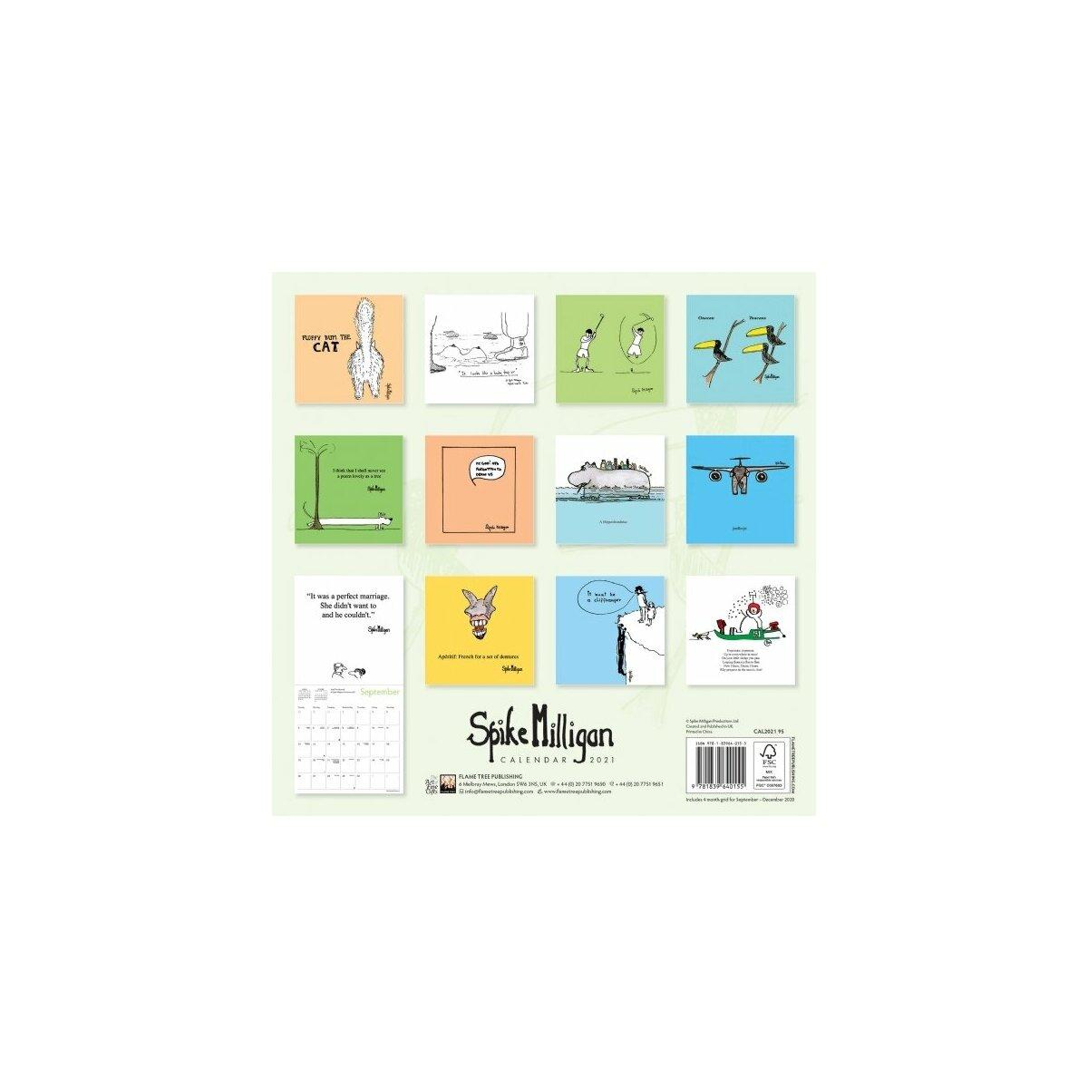 Calendrier 2021 Dessin humoristique Spike Milligan