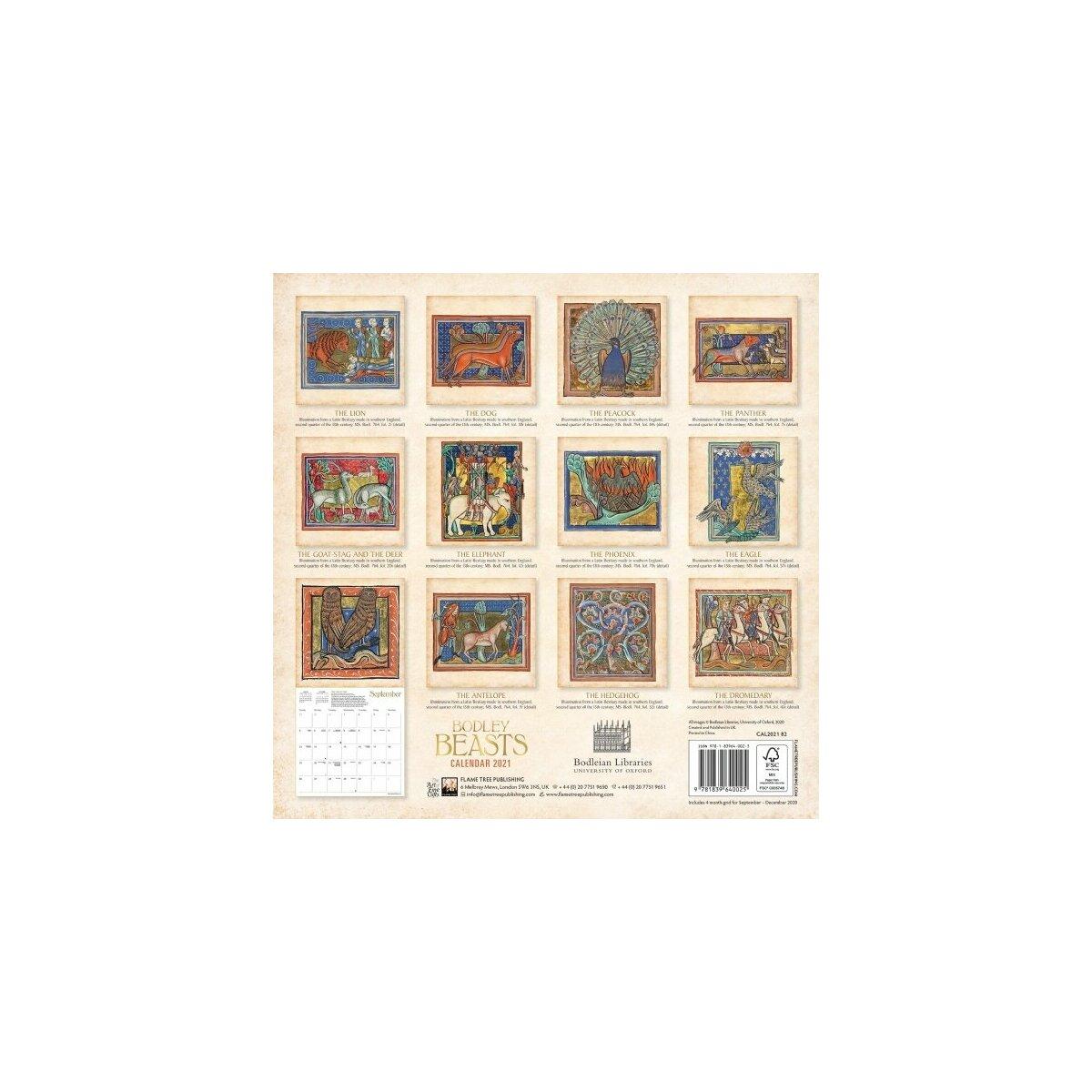 Calendrier 2021 Manuscrit médiéval