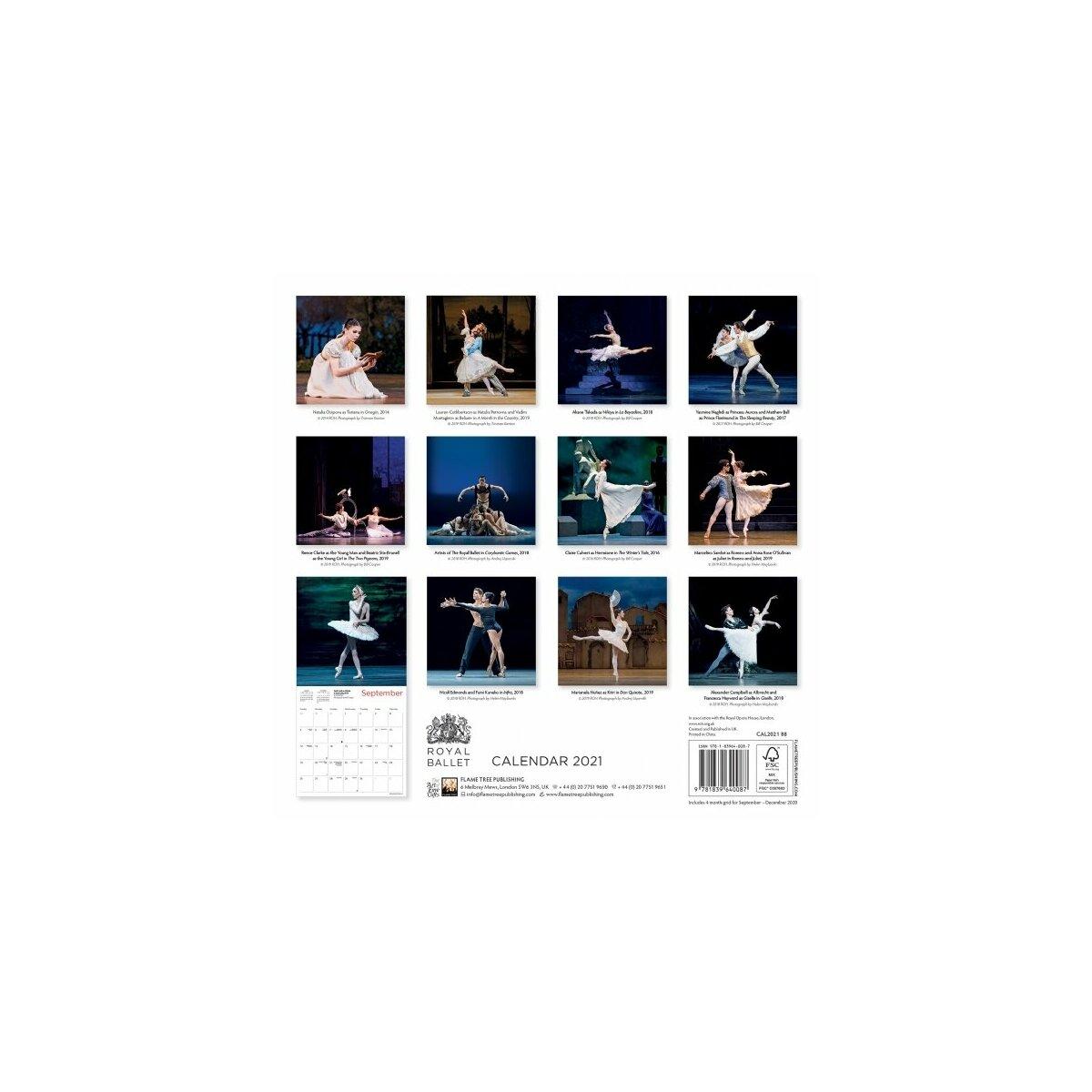 Calendrier 2021 Ballet de Danse   royal