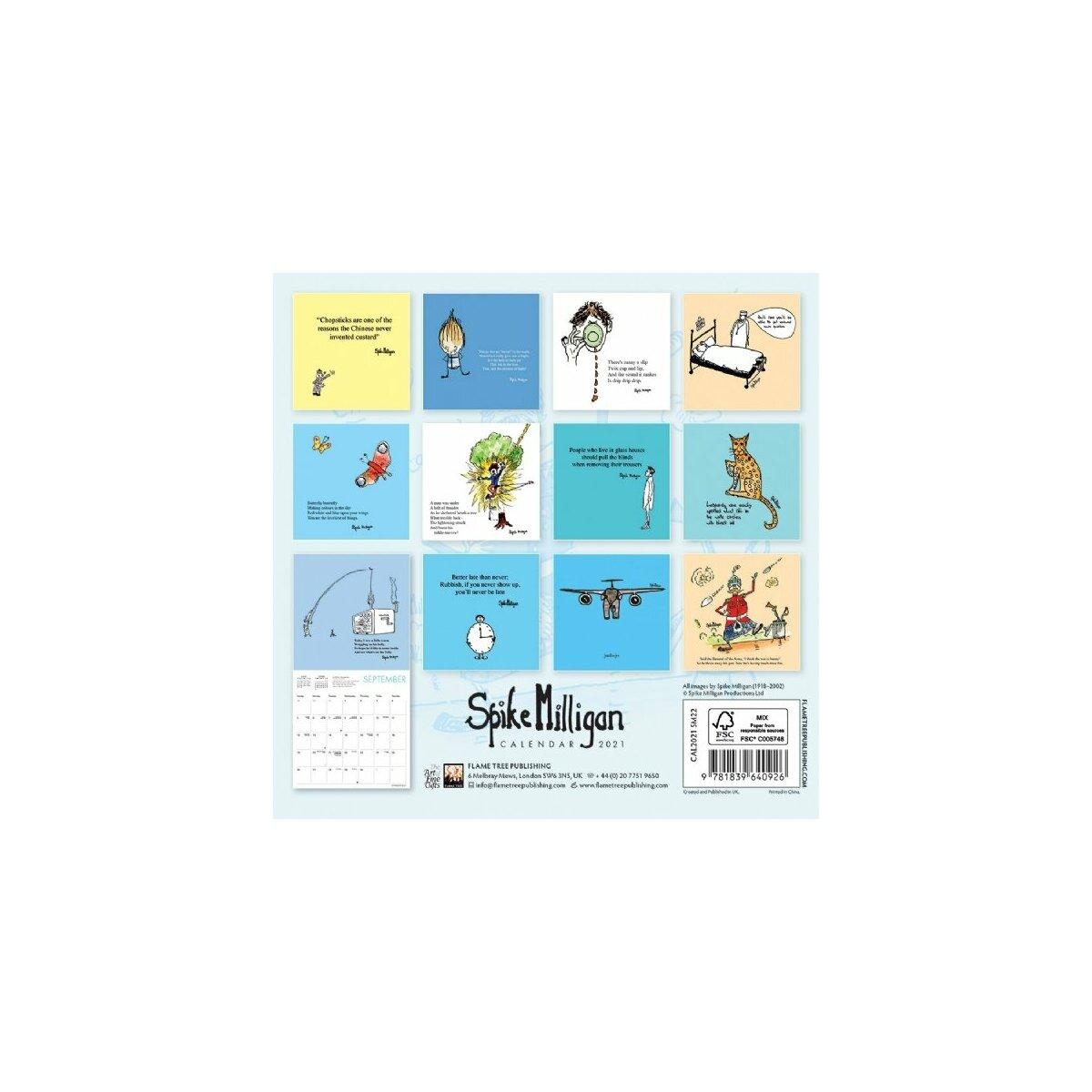 Mini calendrier 2021 Spike Milligan   humoristique
