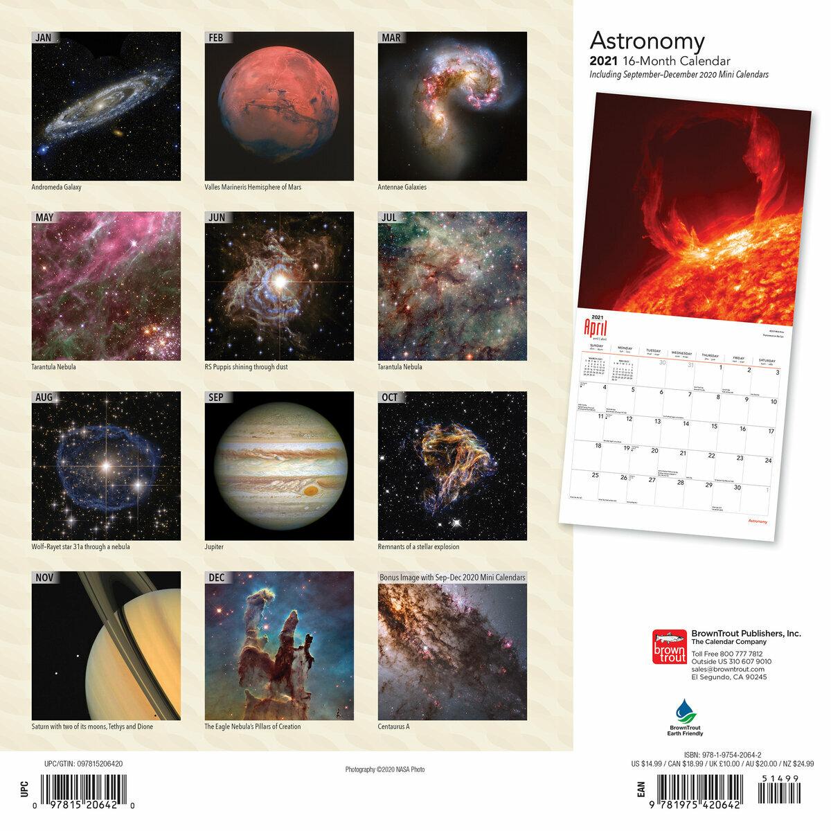 Calendrier Astronomique 2021 calendrier 2021 Astronomie