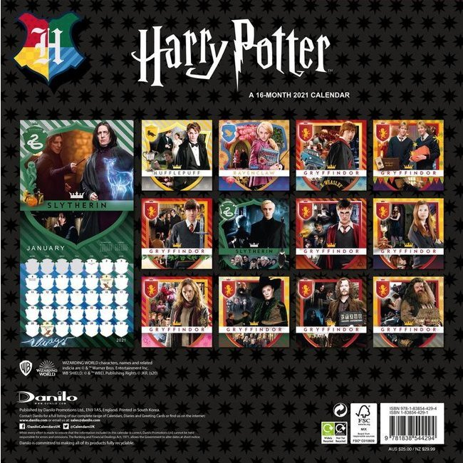 Calendrier 2021 harry potter