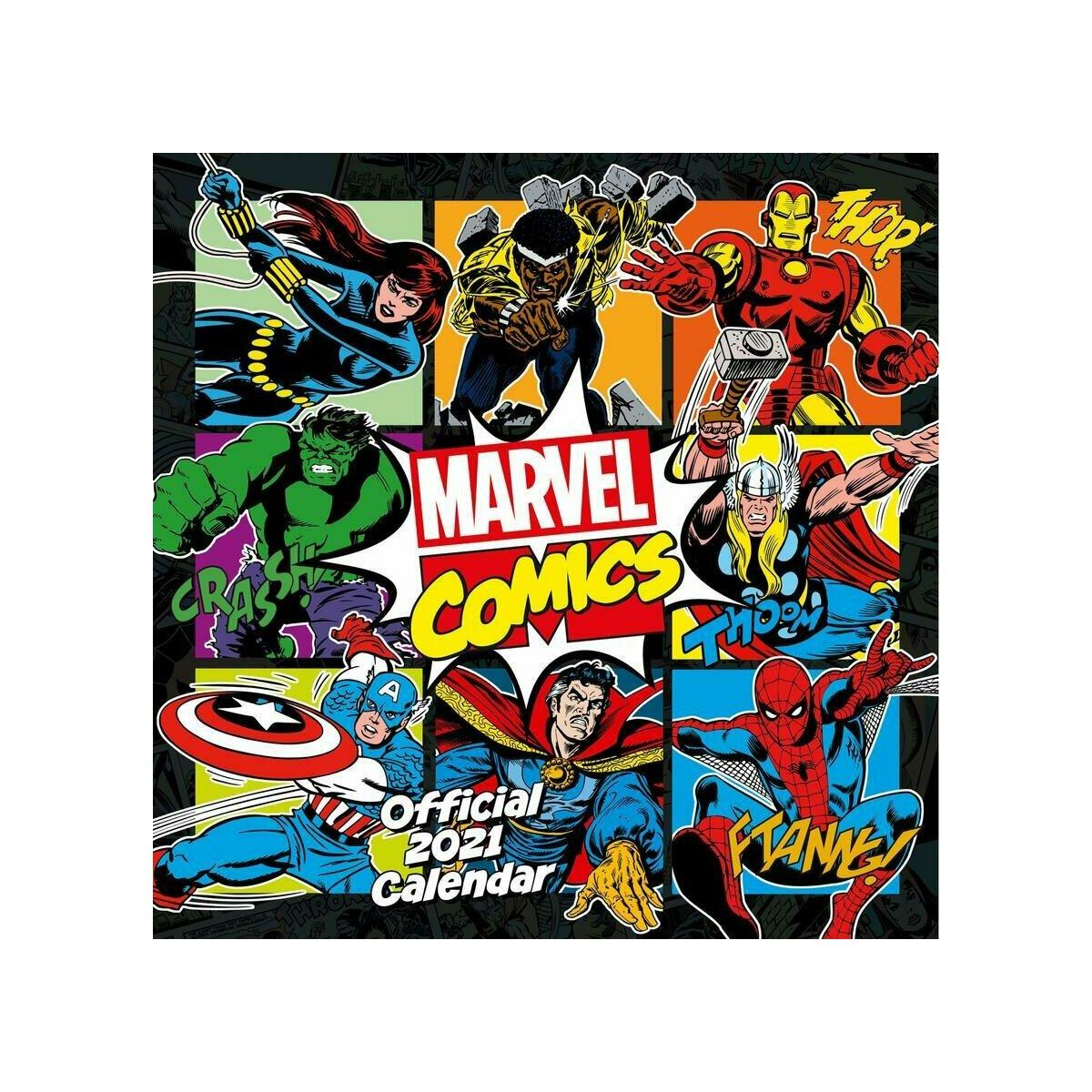 calendrier Bandes dessinées Marvel 2021